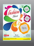 Fashion flyer template Stock Images