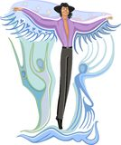 Fashion flying young man Royalty Free Stock Photography