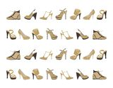 Fashion footwear pattern Stock Photos