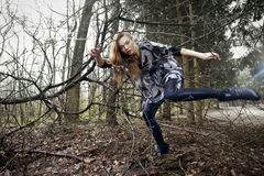 Fashion in forest Royalty Free Stock Photography