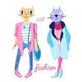 Fashion funny cats Stock Photos