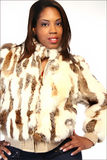 Fashion Fur. A model wearing a fur coat Stock Photography