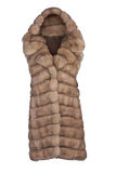 Fashion fur coat Stock Image