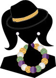 Fashion Gal Silhouette Stock Image