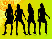 Fashion Gang. The fashion gang is here waiting for a party or a show so join and enjoy Stock Photo