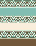 Fashion pattern with triangles Stock Photos