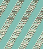 Fashion pattern with triangles Royalty Free Stock Photos