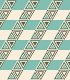 Fashion pattern with triangles Stock Image