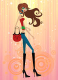 Fashion girl Royalty Free Stock Photos