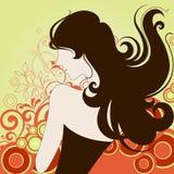 Fashion girl. Illustration drawing of fashion girl stock illustration