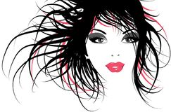 Fashion girl. A Hand drawn fashion illustration Royalty Free Stock Images