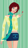 The  fashion girl. Illustration-3 Royalty Free Stock Photos
