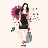 Fashion girl Royalty Free Stock Photography