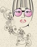Fashion girl. Fashion beautiful girl with fashionable hairstyle Stock Photography