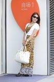 A fashion girl stock image