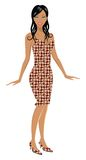 Fashion Girl. Detaily illustrated fashion girl with nice dress and high heels Stock Image