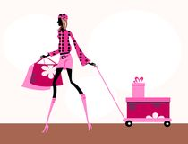 Fashion girl. Pretty illustration of delicate fashion girls vector illustration