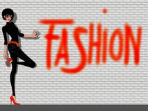 Fashion girl Royalty Free Stock Images
