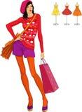 fashion girl Obraz Royalty Free