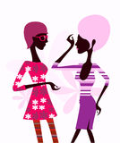 Fashion girl. Pretty illustration of  delicate fashion girl Royalty Free Stock Photography