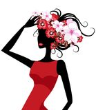 Fashion girl. Pretty illustration of  delicate fashion girl Royalty Free Stock Photos