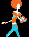 Fashion girl. Pretty illustration of  delicate fashion girl Stock Photography
