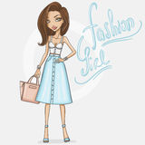 fashion girl ilustracji