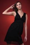 FASHION GIRL. Female model posing in fashion dress Royalty Free Stock Photos