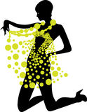 Fashion Girl. Vector Illustrations. Objects Royalty Free Stock Photo