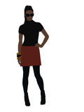 Fashion girl. Illustration, editable Royalty Free Stock Images