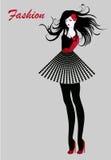 Fashion girl. An illustration of a beautiful fashion girl Royalty Free Stock Photography