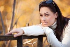 Fashion girl in autumn park Stock Photo
