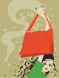 Fashion girl with bag Royalty Free Stock Photo