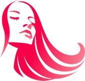 Fashion girl. Beautiful young girl with long hair Stock Photography