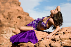 Fashion girl in belly dance dress Stock Photo