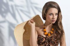 Fashion girl in bikini Stock Images