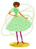 Fashion girl cartoon. Isolated on white background royalty free illustration