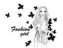 Fashion girl Stock Image