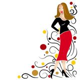 Fashion Girl Clip Art Brunette royalty free illustration