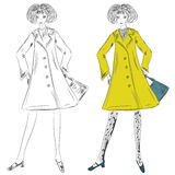 Fashion girl in the coat Royalty Free Stock Images