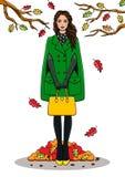 Fashion girl in a coat Stock Photo