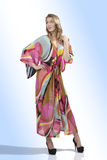 Fashion girl with colorful dress Royalty Free Stock Image