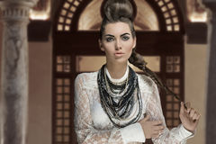 Fashion girl with creative style Stock Photography