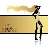 Fashion girl in dance stock illustration