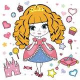 Fashion girl design elements. Royalty Free Stock Image