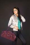 Fashion girl in designer glasses Stock Images