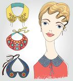 Fashion girl in detachable collar. This is file of EPS8 format stock illustration