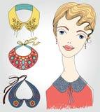 Fashion girl in detachable collar Stock Image
