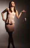 Fashion girl with elegant handbag bag Stock Photography