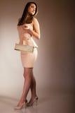 Fashion girl with elegant handbag bag Royalty Free Stock Photos
